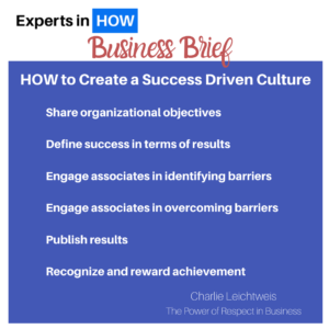Biz Brief HOW success driven culture